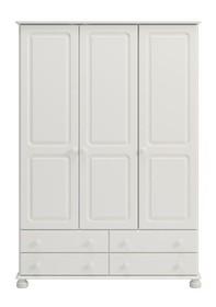 Biała romantyczna szafa 3 drzwiowa Richmond • czysta biel • lekka forma kolekcji • powrót do tradycyjnej stylistyki • dobra cena • wysoka jakość...
