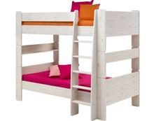 Łóżko piętrowe podwójne Steens for kids - sosna biel. szczotkowana