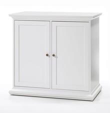 Romantyczna biała komoda PARIS 2 • dostępna w kolorze białym • szeroka kolekcja mebli • stylizowane metalowe uchwyty • konkurencyjna cena •...
