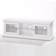 Romantyczna szafka TV PARIS • dostępna w kolorze białym • szeroka kolekcja mebli • stylizowane metalowe uchwyty • konkurencyjna cena • dobrze...