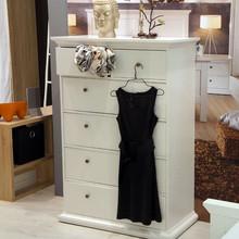 Romantyczna biała komoda PARIS 4+2 • dostępna w kolorze białym • szeroka kolekcja mebli • stylizowane metalowe uchwyty • konkurencyjna cena •...