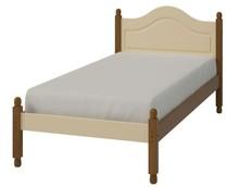 Kremowe romantyczne łóżko Richmond • ciepły kremowy kolor na mdf • wykończenia z sosny bejcowanej – lakierowanej • lekka forma kolekcji •...