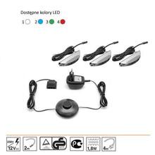 - zasilacz z włącznikiem<br />- 3 x oświetlenie LED do szklanych półek<br />- przewody łączące z wtyczkami