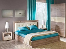 Funkcjonalne miejsce wypoczynku!  Zestaw mebli do sypialni Verto składa się z dużego łóżka, szafy i stolika nocnego. Dzięki tym meblom stworzymy...