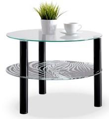 Praktyczność i wysoka jakość!  Stolik szklany Zebra został wykonany z wysokiej jakości materiałów. Szkło, z jakiego został wykonany blat jest...