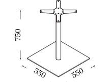 COMPOSIT 2/005 i 06 to podstawa składająca się z dwóch części: kolumny i podstawy.<br /> Kolumna jest okrągła, o średnicy 80mm i...