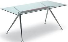 Stół nierozkładany, podstawa metalowa chromowana, malowana na aluminium albo kolor biały. Blat szklany w 3 wymiarach- szkło hartowane,...