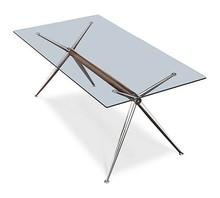 Stół BRIOSO składa się z metalowej podstawy malowanej na kolor biały lub czarny bądź wykończonej w chromie oraz szklanego blatu w trzech rozmiarach do...