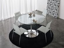 Stół INFINITY 120- blat szklany, przeźroczysty, biały, z płyty białej matowej. Podstawa mebla metalowa chromowana, aluminiowa lub biała....