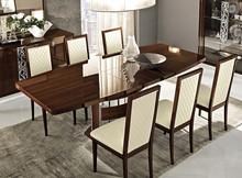"""Krzesło z kolekcji ROMA drewniane w kolorze białym lub orzech włoski """"canaletto"""", lakierowane na wysoki połysk nadają w salonie indywidualnego..."""