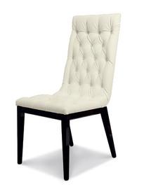Krzesło LA STAR DAY stelaż drewniany wykonany z drewna bukowego malowane na kolor czarny błyszczący. Oparcie i siedzisko wykonane z ekoskóry w...