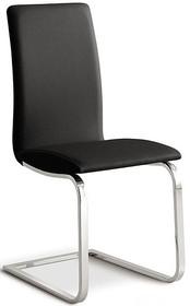 GENOVA to eleganckie włoskie krzesło, idealne do jadalni, salonu lub pokoju. Stelaż krzesła GENOVA jest chromowany w kształcie płoz. Siedzisko i...