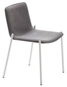 Krzesło TRAMPOLIERE jest częścią rodziny krzeseł i hokerów , podstawa jest chromowana lub malowana na biało oraz kolor...