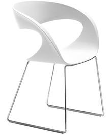 Siedzisko i oparcie fotela RAFF T-B wykonane jest z tworzywa sztucznego, które dostępne jest w wielu ciekawych kolorach. Stelaż na płozach jest metalowy i...