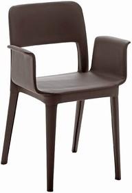 Krzesło ma podłokietniki przez co wygoda siedzenia staje się lepsza. Model krzesła ma oryginalne wycięcie w oparciu. Krzesło NENE PR-CF ma tapicerowane...