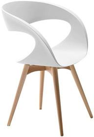 Siedzisko i oparcie fotela RAFF L TS wykonane jest ze skóry miękkiej i tkanin, które dostępne jest w wielu ciekawych kolorach. Stelaż krzesła drewniany...