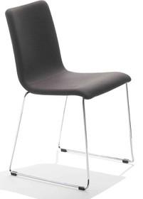 Krzesło PASSEPARTOUT T-R jest to krzesło o podstawie chromowanej lub metalowej malowanej na kolor aluminium lub biały, może być płozach, lub z rurkami...
