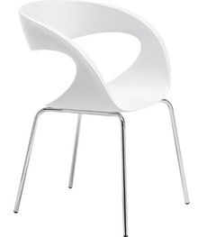 Siedzisko i oparcie fotela RAFF S - B wykonane jest z tworzywa sztucznego, które dostępne jest w wielu ciekawych kolorach. Stelaż krzesła jest metalowy i...