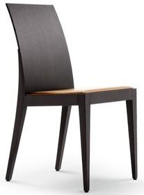 Krzesło drewniane wykonane z litego drewna dębowego, siedzisko profilowane, obszywane wysokiej jakości skórą twardą, przeszywane nicią dla...