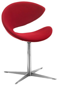 Stelaż krzesła wykonany jest z metalu, dostępny jest w wersji chromowanej. Siedzisko fotela wykonane zostało z masy plastycznej nieprzezroczystej...