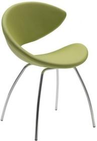 Stelaż krzesła wykonany jest z metalu, dostępny jest w wersji chromowanej lub malowanej na aluminium i kolor biały. Dostępne są wersje na: czterech...