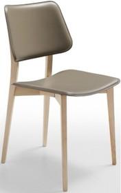 Krzesło JOE S L-CU stelaż drewniany, który występuje w 3 kolorach: naturalny, wenge i orzech. Siedzisko i oparcie wykonane ze skóry naturalnej twardej...