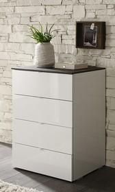 TAMBURA to włoska, 4-szufladowa szafka wspaniale prezentująca i spisująca się w nowocześnie urządzonej sypialni. Jest elementem całej kolekcji mebli, do...