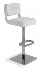Hoker z oparciem BELT posiada tapicerowane siedzisko oraz chromowaną lub lakierowaną, metalową podstawę.<br />Dodatkowo wokół siedziska...
