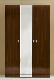 Szafa 3-drzwiowa ONDA z płyty laminowanej, lakierowana na wysoki połysk. Możliwość wyboru jednego z dwóch kolorów: biały lub orzech...