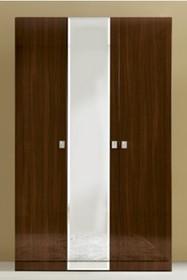 Szafa 3-drzwiowa ONDA z jednym frontem lustrzanym po środku wykonana została z solidnej i pięknej płyty laminowanej. Boki i fronty mają grubość 25 mm....