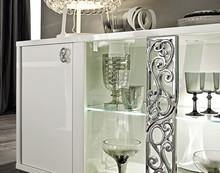 Nowoczesna włoska komoda ROMA z 2-frontami szklanymi, która była też lakierowana na wysoki połysk, to komfort w każdym calu. Dostępna jest w...