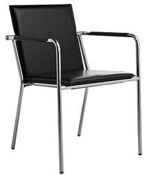 VIVO P-CU to nowoczesny włoski fotel do salonu. Posiada metalowy, chromowany stelaż. Siedzisko i oparcie obszyte są skórą i na bokach przeszywane...