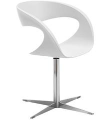 RAFF F-TS to przepięknie włoskie krzesło biurowe o nietypowym wyglądzie. Siedzisko i oparcie obszyte jest naturalną skórą miękką, eko...