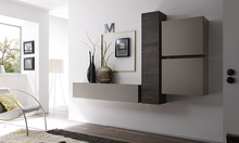 Włoska meblościanka CUBE sprawi, że Twoje mieszkanie wreszcie nabierze nowego blasku. Wykonana została z płyty MDF. Jedna szafka pozioma i dwie kwadratowe...