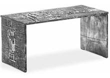 """Ławka włoska (zaprojektowana przez Giorgio Celibertiego) to praktyczność i elegancja w każdym calu. Podstawa i siedzisko ławki """"Sosta etrusca""""..."""