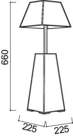 Lampa wysoka PAMELA to nowość na rynku polskim. Klosz lampy został obszyty najwyższej jakości materiałem stosowanym w przemyśle produkcji kloszy....