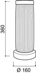 Lampa SELVA<br /><br />Klosz lampy został obszyty najwyższej jakości skórą regenerowaną, przecięcia w kloszu zostały wyciete...