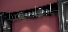 Nowoczesna półka wisząca LA STAR DAY w kolorze czerni lub kości słoniowej lakierowane na wysoki połysk nadają w salonie indywidualnego charakteru...