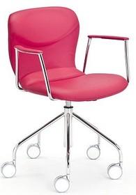 ITALIA DP B to nowoczesne włoskie krzesło biurowe, które jest obrotowe, a ponadto posiada kółka oraz możliwość regulacji wysokości....