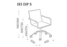 H5 DP S to włoski fotel biurowy o regulowanej wysokości. Jego siedzisko i oparcie obszyte są skórą twardą naturalną lub regenerowaną. Istnieje...