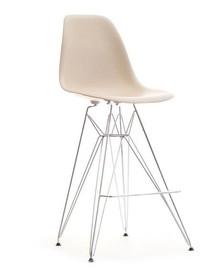 Designerskie, nowoczesne, krzesło barowe będzie doskonałym rozwiązaniem do wszystkich równie współczesnych wnętrz.  To mebel efektowny,a przy...
