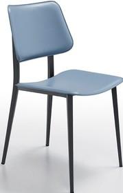 Krzesło JOE S M - CU stelaż metalowy w kolorze: biaŁym, piaskowym, grafitowym. Siedzisko i oparcie wykonane ze skóry naturalnej twardej lub...