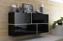Dane szczegółowe  Opis produktu Kod produktu 15622 Materiał płytameblowa Kolor czarny Wymiary meblościanki szerokość: 170cm...