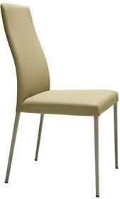 Siedzisko i oparcie krzesła może być obszyte wysoko- jakościowymi materiałami, tj.Skóra Naturalna Twarda-Cuoio lubSkóra Regenerowana...