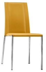 Krzesło SILVY SB CU jest meblem z górnej półki.<br />Krzesło obszyte naturalną twardą skórą lub skórą...