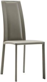 Krzesło SILVY SAR CU jest meblem z górnej półki.<br />Krzesło obszyte w całości naturalną twardą skórą lub...