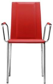 Krzesło SILVY PB -CU jest meblem z górnej półki. Dodatkowy komfort siedzenia podnoszą podłokietniki. Krzesło obszyte naturalną twardą skórą lub...