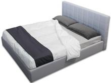 Włoskie łóżkoRITA 160/200cmz wysokim wezgłowiem tapicerowanym, wykonane zostało z wielowarstwowego drewna topolowego. Łóżko...