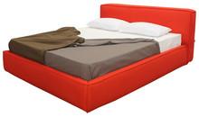 Włoskie łóżkoJESSICA 160/200cmz tapicerowanym wezgłowiem, wykonane zostało z wielowarstwowego drewna topolowego. Łóżko obszyte jest...