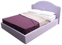 Włoskie łóżkoGOYA 160/200cmz tapicerowanymi profilowanym wezgłowiem. Łóżko obszyte jest wysokiej jakości tkaninami...